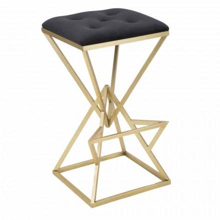 Høj firkantet designstol i jern og stof - Sillie