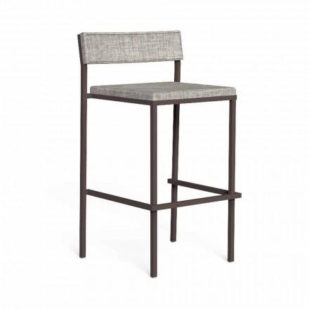 Luksus udendørs barstol i stål og stof - Casilda af Talenti