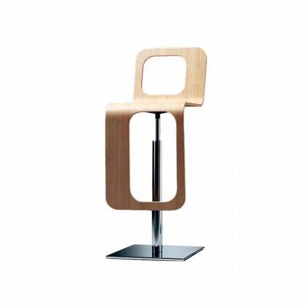 Køkkenstol til moderne design i egetræ og metal - Signorotto