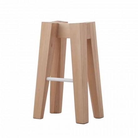 Høj eller lav design massiv bøgetræ køkkenstol - Cirico