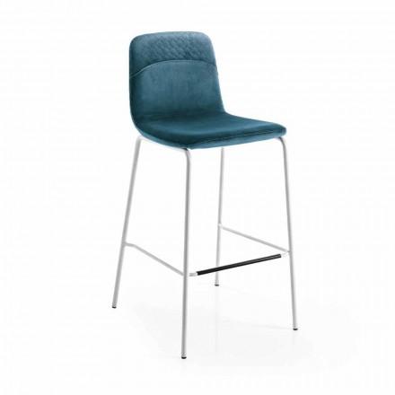 Køkkenstol i farvet fløjl Moderne og elegant design - Bizet