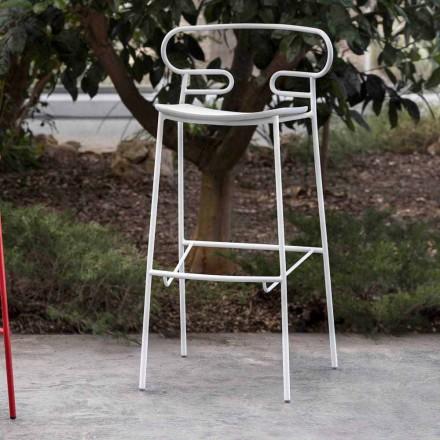 Udendørs skammel i malet metal og polyurethan Fremstillet i Italien - Trosa