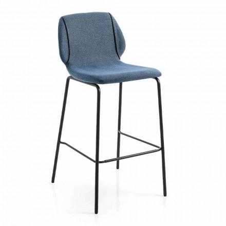 Moderne design Elegant stole skammel i stof med kant - Scarat