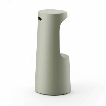 Højt designskammel i mat polyethylen til udendørs fremstillet i Italien - Forlina