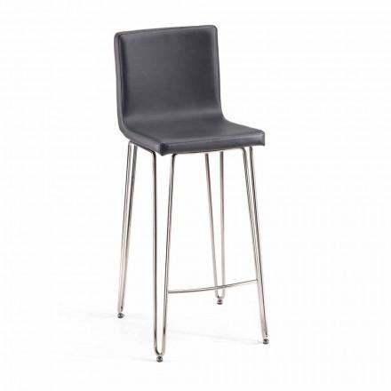 Designstole med høj ryg Carlo, H 97 cm, lavet i Italien