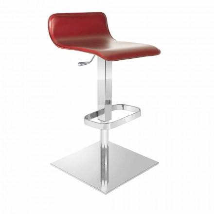 Designstole med justerbart sæde og Inigo krom base