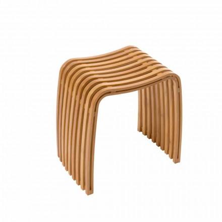 Gorizia hot-curved bambus designstole
