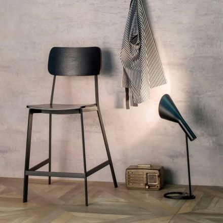 Elmas moderne designstole H 97 cm, lavet af træ og metal