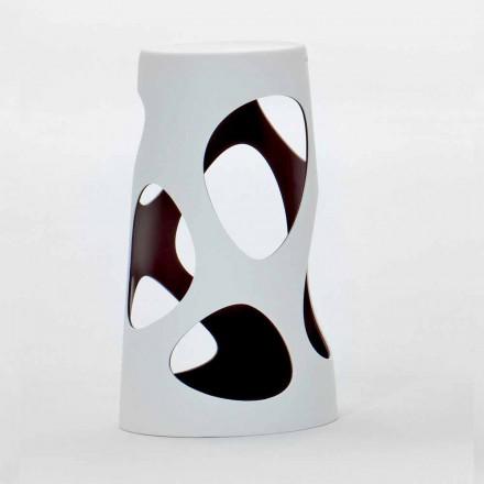 Udendørs eller indendørs stabelbar skammel hvid og sort 2 stykker - Liberty fra Myyour