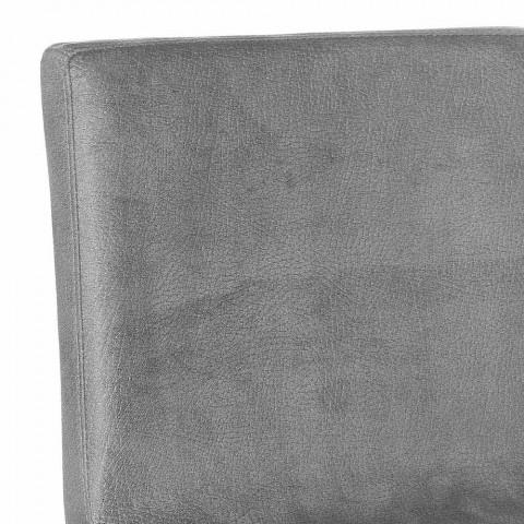 Drejelig afføring med moderne design ryglæn Gord, H 113 cm