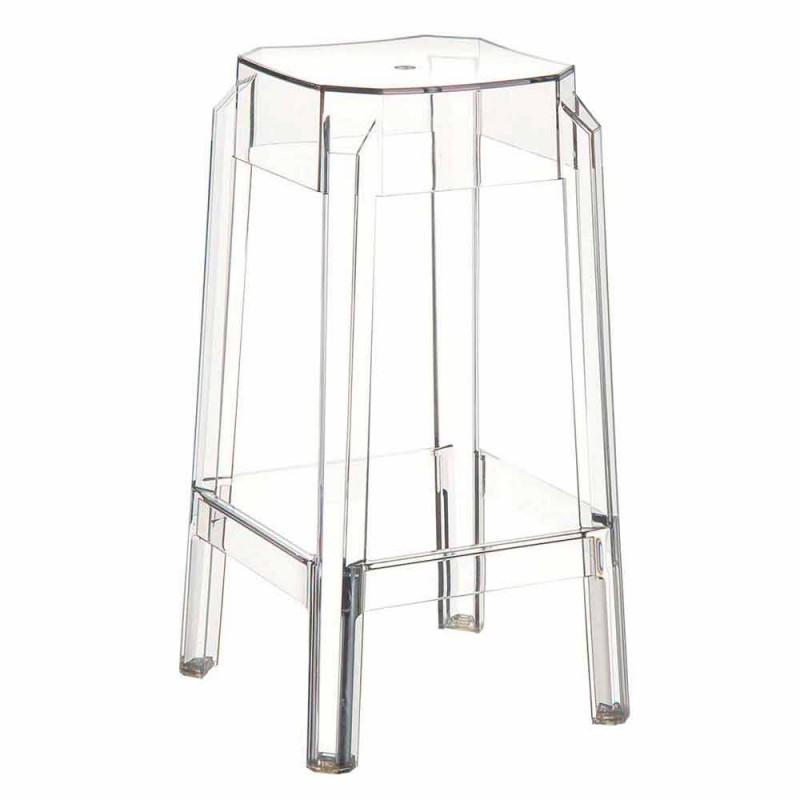 Moderne gennemsigtig polycarbonatstole lavet i Italien Pescara