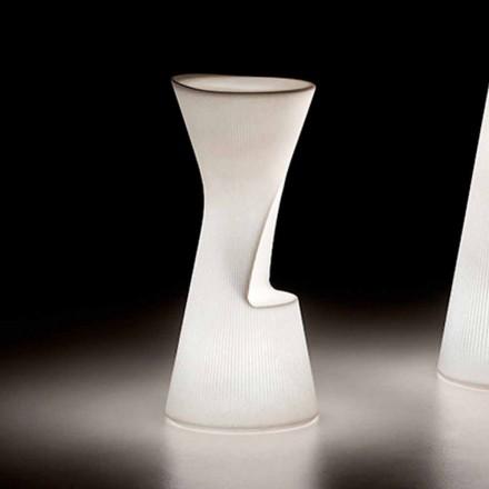 Lysende udendørs skammel i polyethylen med LED Made in Italy - Desmond