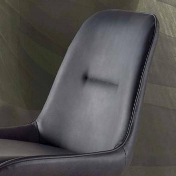 Moderne afføring H 80 cm, sæde i Ecoleather Nabuk - Ines