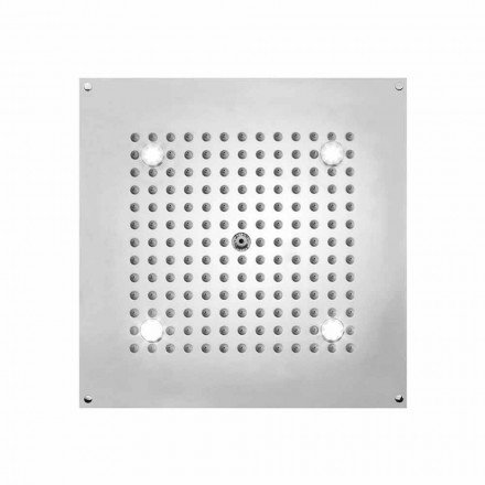 Square brusehoved med LED lys til en jet Bossini