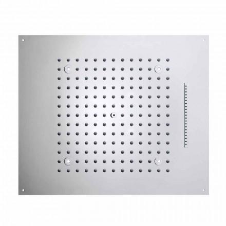 Loft brusehoved med to dyser med LED lys drøm