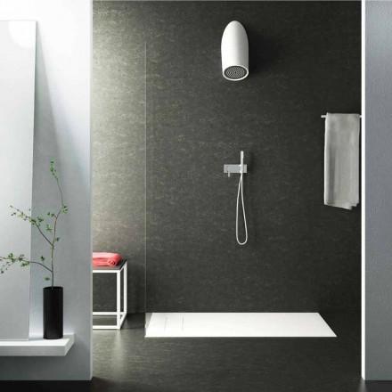 Moderne vægbrusebadhoved i Luxolid lavet 100% i Italien, Rubano