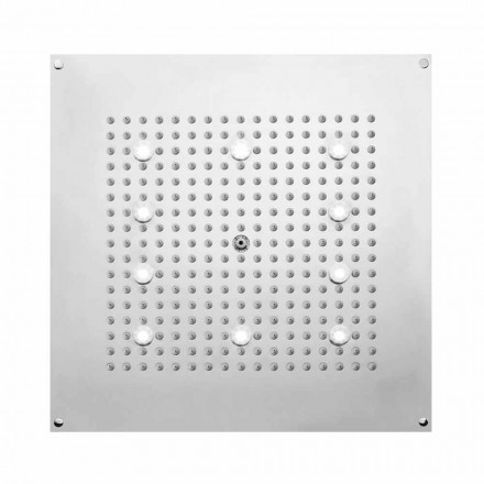 Square brusehoved brusebad med regn bruser og LED lyser Bossini