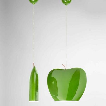 Suspension i keramik af æbleformet design - Frugter Aldo Bernardi