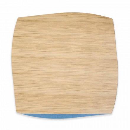 Moderne firkantet placemat i egetræ fremstillet i Italien, 4 stykker - Abraham