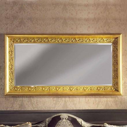 Moderne håndlavet ayous trævæg spejl produceret i Italien Enrico