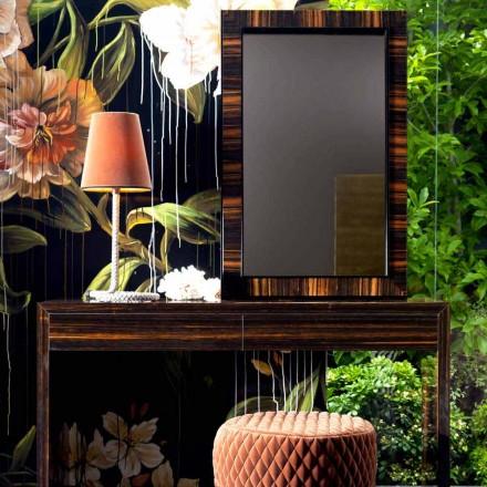 Vægmonteret spejl / ibenholt træ Grilli Zarafa lavet i Italien