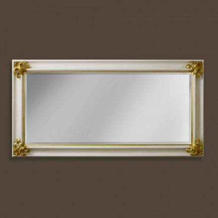 Moderne design håndlavet trævæg spejl lavet i Italien Stefano