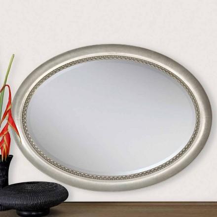 Moderne design trævæg spejl lavet i Italien Edward