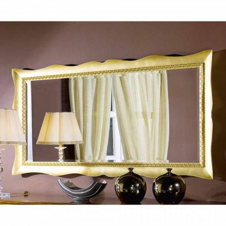 Håndlavet væg spejl lavet af træ guld eller sølv lavet i Italien Luigi