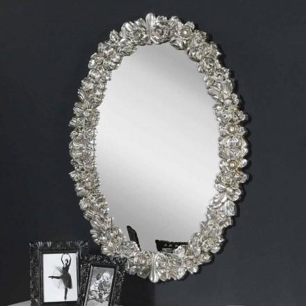 Moderne håndlavet gran træ væg spejl lavet i Italien Filippo