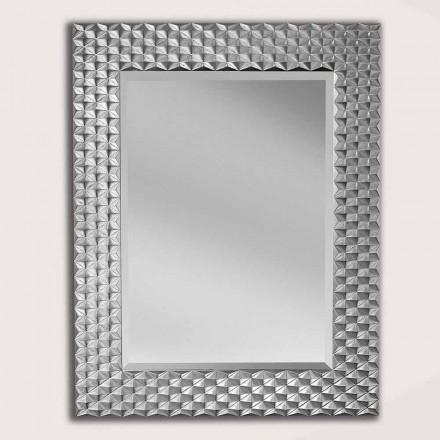Væg spejl i sølv eller guld træ lavet i Italien Giuseppe