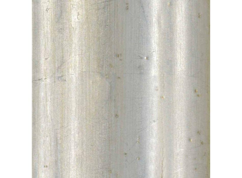 Fir wood væg spejl, håndlavet italiensk lavet Elia harpiks frise