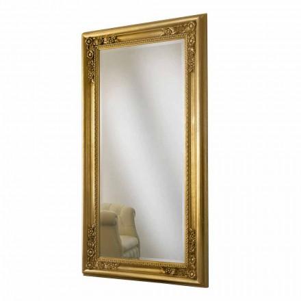 Væg spejl guld, sølv håndlavet træ lavet Italien Michele