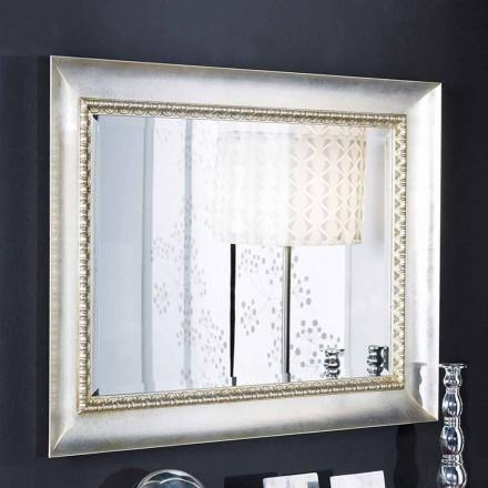 Håndlavet i Italien ayous rektangulært væg spejl lavet af træ Igor