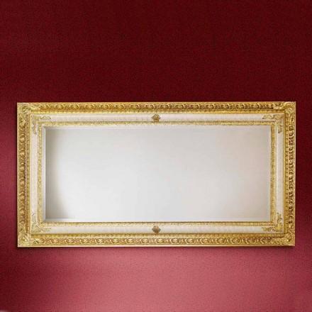 Rektangulært trævægspejl lavet i Italien Raphael