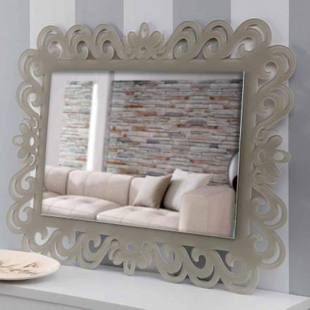 Moderne design rektangulær væg spejl i plexiglas-tortora - Selly