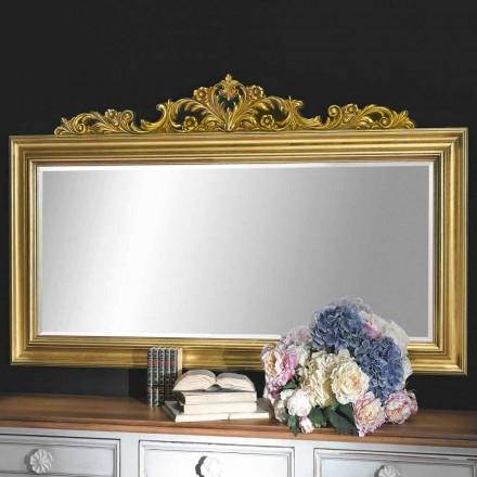 Håndlavet væg spejl lavet af træ og harpiks frise i Italien Matteo