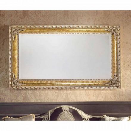 Umbrian moderne vægspejl med rektangulære linjer lavet i Italien
