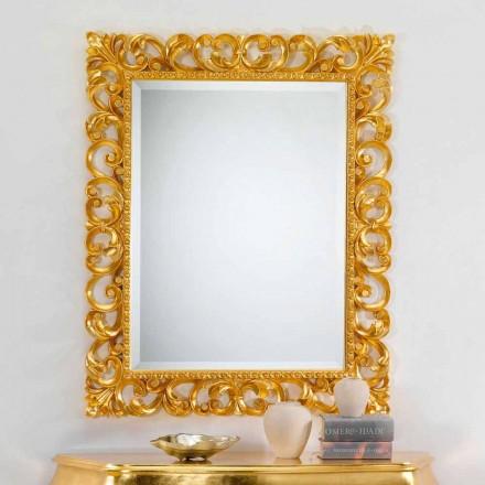 Væg spejl klassisk design med bladguld færdig Paris