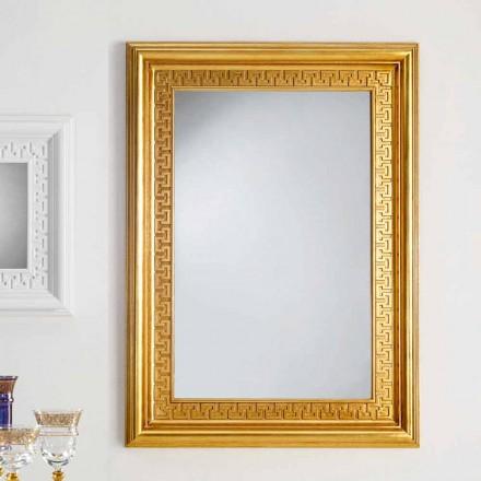 Spejl designer væg med træramme Viva, 96x132 cm