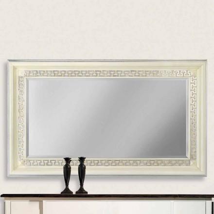 Væg spejl i Ayous træ håndlavet i Italien Maicol