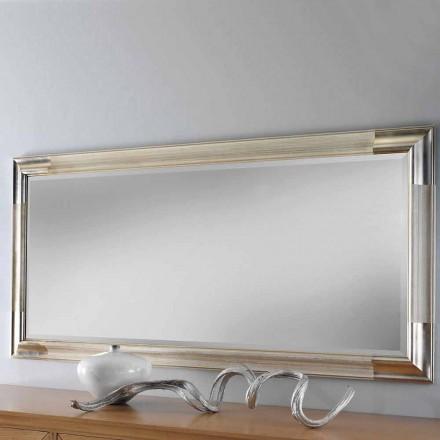 Moderne trævæg spejl lavet i Italien af Piera