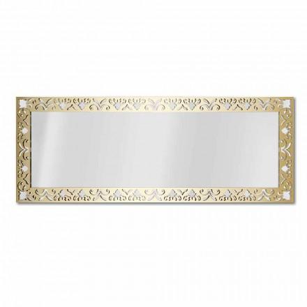 Vægspejl i guld, sølv eller bronze plexiglas med ramme - nektar