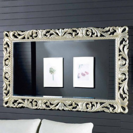 Moderne design ayous trævæg spejl lavet i Italien af Nicola