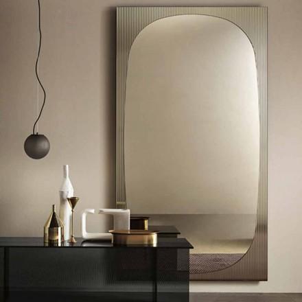 Moderne væg spejl med bronzespejl fremstillet i Italien - Bandolero