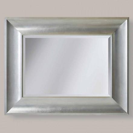 Guld, sølv væg spejl i ayous lavet Italien Silvio træ