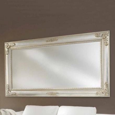 Håndlavet ayous lavet i Italien væg spejl Alessio træ
