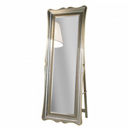 Ayous trægulv spejl med piedestal lavet i Italien Jonni