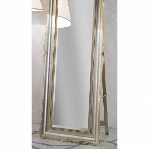 Fir træ gulv spejl med piedestal lavet i Italien Jonni