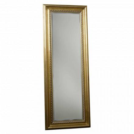 Trægulv spejl med håndlavet piedestal lavet Italien Leonardo