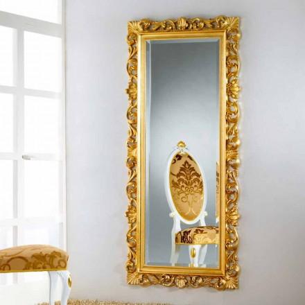 Spejl gulv / væg design med bladguld færdig Mata